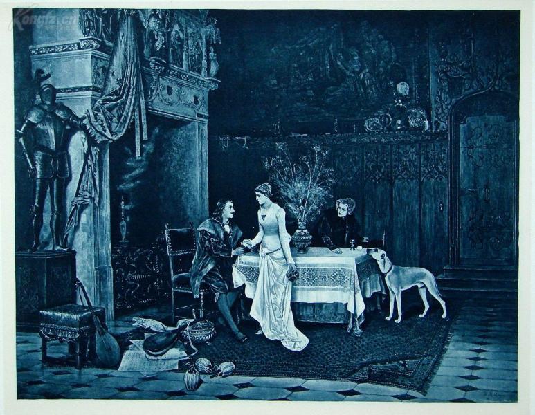 """""""限量高品质照相铜版画""""1888年意大利艺术珍品系列《最后一朵玫瑰》—画家""""J.F.D.MASTAGLIO""""作品 尺寸:43x30cm"""
