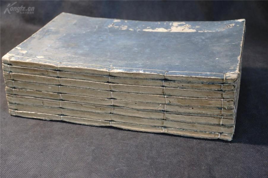 顺治六年 和刻 《周易本義》8厚册全 、【 版画多,很多图】,八卦 周易 易经。 庆安己丑(1649年)和刻