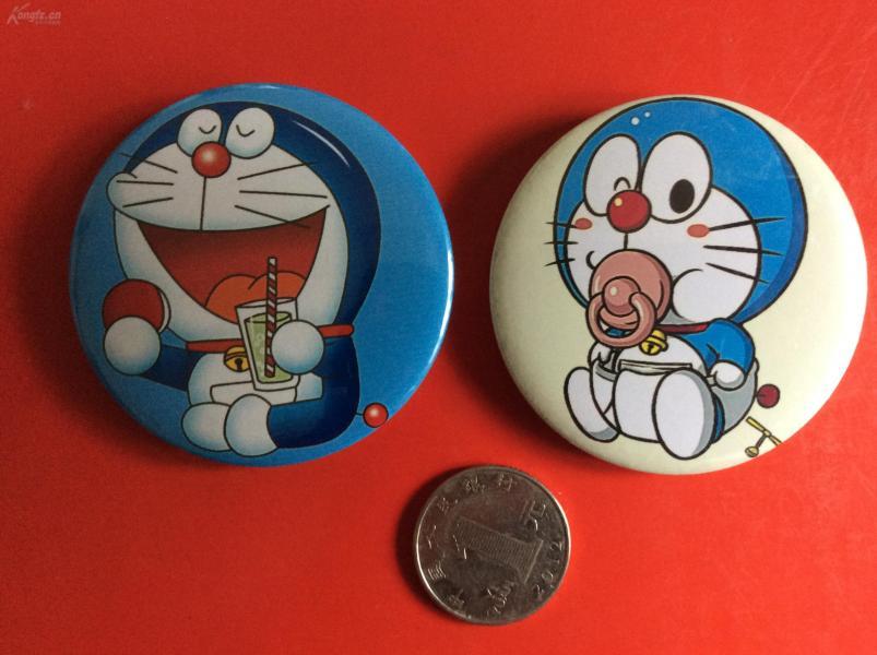 可愛卡通馬口鐵胸章    《機器貓》(整套2枚)  送給小朋友的禮物!