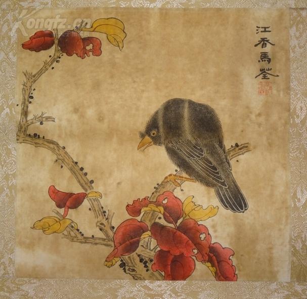 【故纸画笺】 清代女画家 马荃  代表作 花鸟 包老