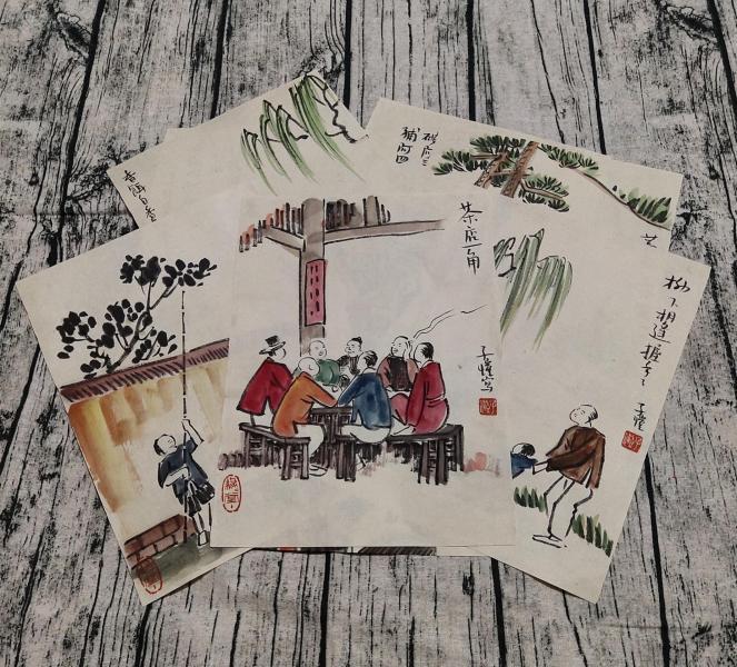 中國現代畫家、散文家、美術教育家、音樂教育家、漫畫家【豐子愷】冊頁