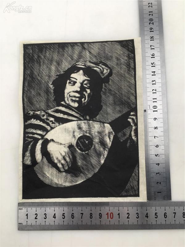 四五十年代  木刻版画一张  内有详图 0821060