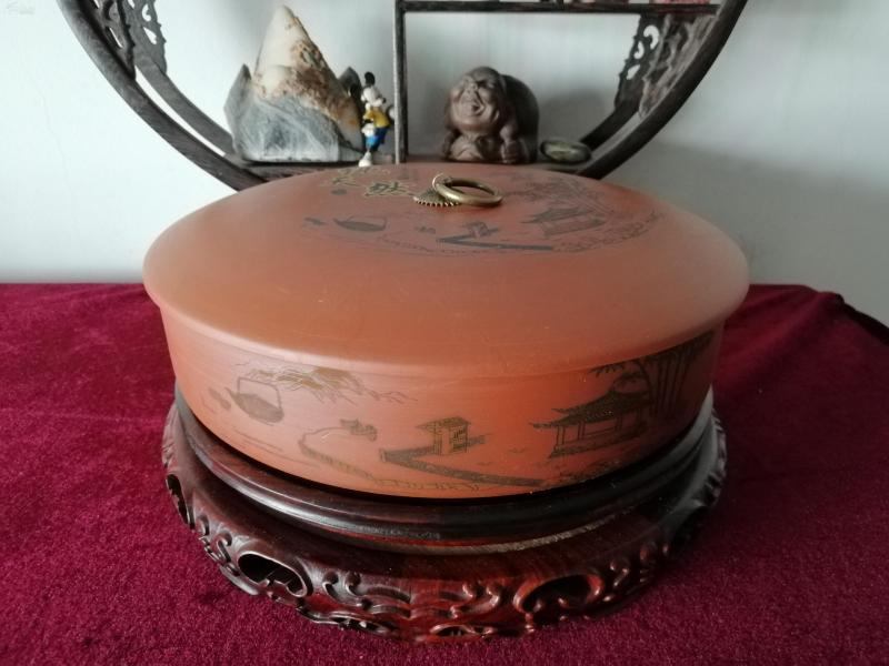 紫砂雅韻普洱茶餅盒(茶葉盒)