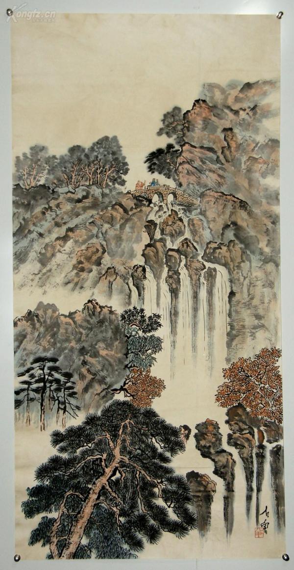 【石鲁】四川仁寿人  当代中国画家  曾任中国美术家协会常务理事  陕西省美术家协会主席   山水