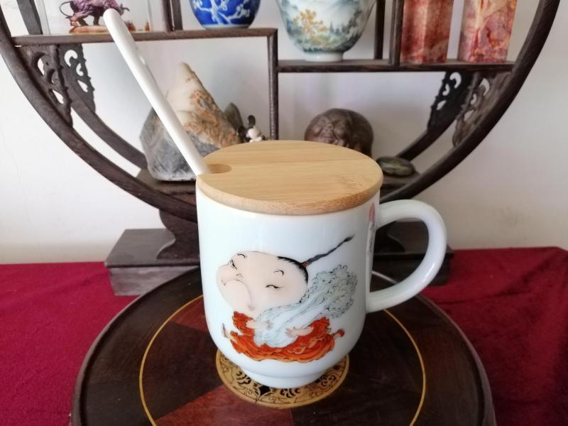 趣味吃貨牛奶(咖啡)杯(手工繪畫).省助理工藝美術師,手工繪畫少量生產