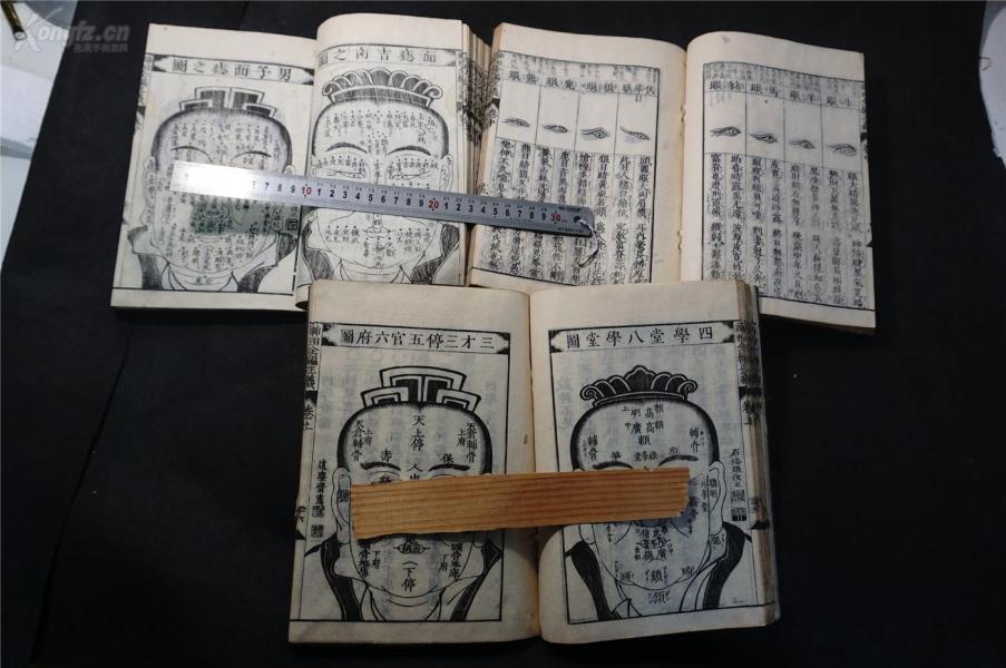 面相 相面古書】《神相全編正羲》三冊全 一套 ,清,文化四年。 和刻本。品相佳————孔網曾6100元成交