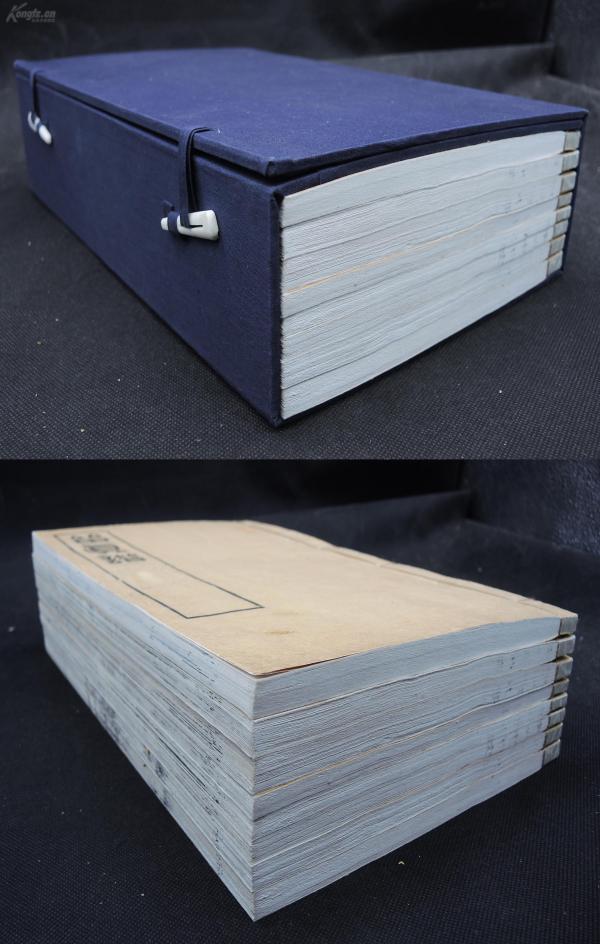 珍稀】清光緒二十七年宜都楊氏精摹寫刻【留真譜】8厚冊一套全,超大開本31厘米,初刻初印,紙張潔白靚麗。為我國第一部古籍善本書影圖譜,收唐、宋、元等珍本483種,每套書的經典頁面讓畫家描摹下來,請雕工依樣刻劃。力求逼真,使人如見真本,故名《留真譜》。書影附有楊氏的題跋注明出處。第一部古籍版本鑒別的古籍