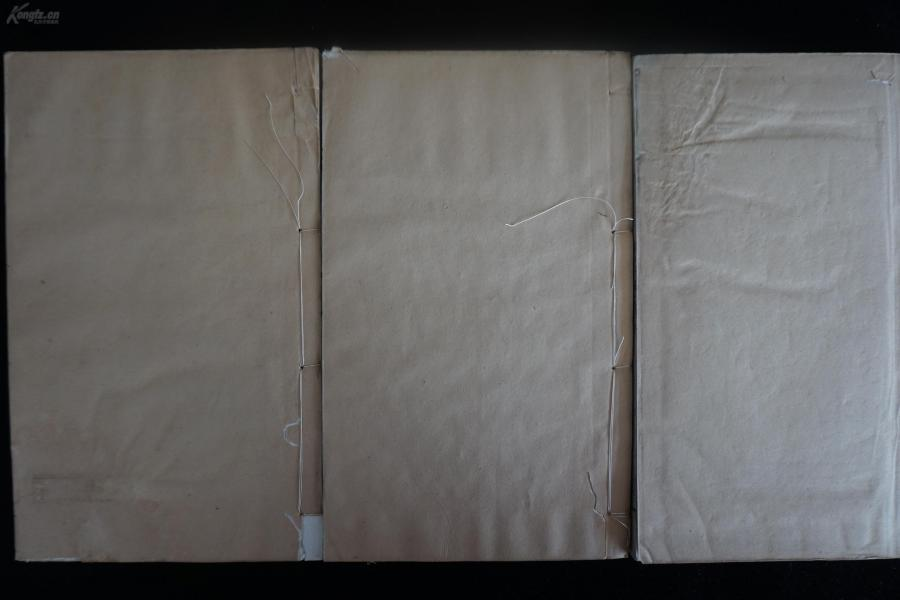 em155清代清程廷祚關于《春秋》考證而成的著作《程氏春秋》3冊10卷全,清通志堂白紙精寫刻