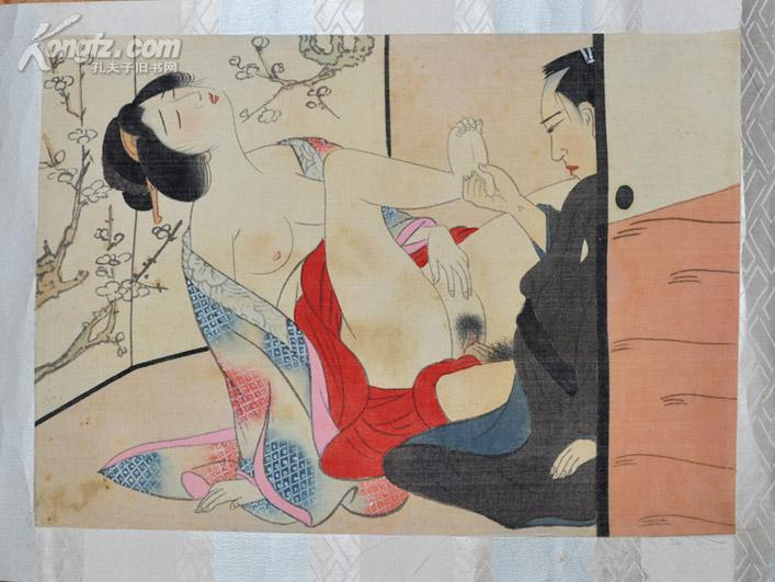 日本浮世   绘作品欣赏   日本浮世   绘《春宫图》12幅合裱