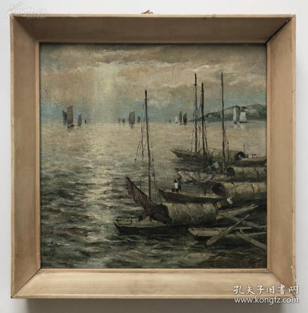 我國第一代油畫家朱士杰油畫作品,