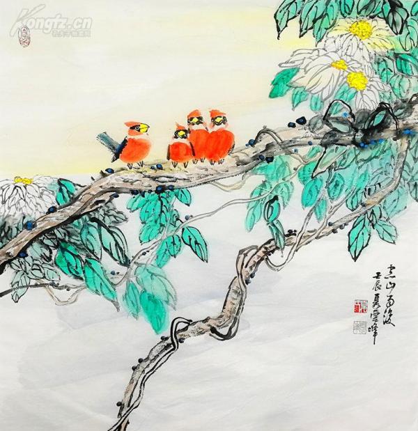 當代書畫家夏云峰原創作品正上拍